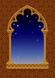 Struttura classica nella forma di finestra decorativa gotica con Ni stellato illustrazione vettoriale