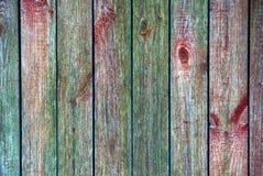 Struttura colorata di vecchi bordi di legno di un recinto rurale Fotografia Stock Libera da Diritti