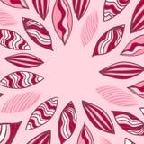 Struttura colorata di vettore con la foglia nel rosa Fotografia Stock Libera da Diritti