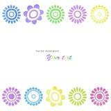 Struttura colorata fiori strutturata acquerello Fotografia Stock Libera da Diritti