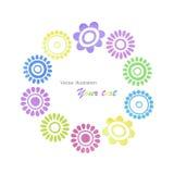 Struttura colorata luminosa dei fiori strutturati dell'acquerello Fotografia Stock