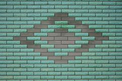Struttura colorata stagionata moderna del muro di mattoni dell'ardesia Immagini Stock Libere da Diritti