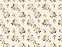 struttura completa di varie piante e foglie dorate royalty illustrazione gratis