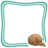 Struttura con Brown Cat Vector Illustration lanuginosa Immagine Stock