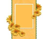 Struttura con i crisantemi illustrazione di stock