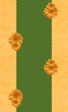 Struttura con i crisantemi Immagini Stock