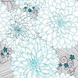 Struttura con i fiori blu illustrazione di stock