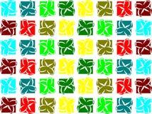 Struttura con le farfalle stilizzate variopinte Fotografia Stock Libera da Diritti