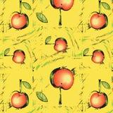 Struttura con le mele rosse astratte illustrazione di stock