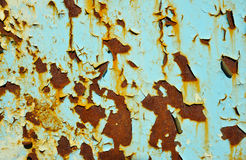 Struttura con pittura scheggiata verde sbiadita Immagini Stock Libere da Diritti