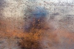 Struttura concreta bianca, arancio e blu Fotografie Stock