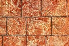 Struttura concreta sul posto stampata della pavimentazione del cemento Immagini Stock Libere da Diritti