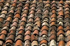 Struttura coperta di tegoli del tetto Immagine Stock