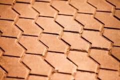 Struttura coperta di tegoli della strada Fotografia Stock