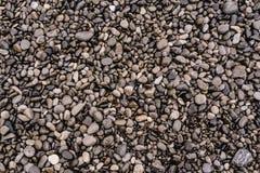 Struttura costiera di pietra della riva della roccia come fondo Immagini Stock