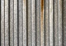 Struttura costolata del metallo Fotografie Stock Libere da Diritti