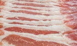 Struttura cruda del bacon fotografie stock