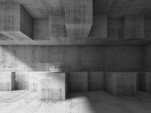 struttura cubica caotica 3d Architettura moderna Immagini Stock