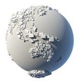 Struttura cubica della terra del pianeta Immagini Stock Libere da Diritti