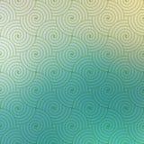 Struttura curvy del modello di onde di vettore geometrico ripetitivo su fondo vago Fotografia Stock Libera da Diritti