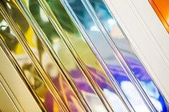 Struttura d'acciaio del fondo del raccordo del recinto ondulato di colore Di superficie o galvanizzi il fondo Fotografie Stock