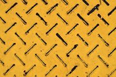 Struttura d'acciaio del metallo con colore giallo Fotografia Stock Libera da Diritti