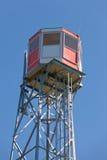 Struttura d'acciaio dell'allerta dell'incendio forestale della torre dell'orologio Immagini Stock