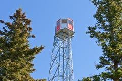 Struttura d'acciaio dell'allerta della torre dell'orologio dell'incendio forestale Fotografia Stock