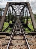Struttura d'acciaio di 100 anni del ponte immagini stock libere da diritti