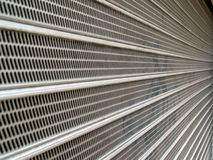 Struttura d'acciaio ondulata astratta Fotografie Stock