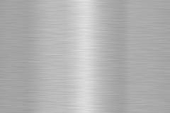 Struttura d'acciaio spazzolata brillante del metallo Fotografia Stock