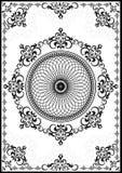 Struttura d'annata con l'ornamento di lusso nero su fondo bianco Fotografie Stock