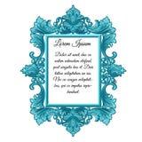 Struttura d'annata decorata con spazio per il vostro testo isolato su fondo bianco Campione della decorazione interna nel retro s royalty illustrazione gratis