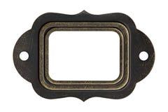 Struttura d'annata del metallo, isolata su bianco Immagine Stock