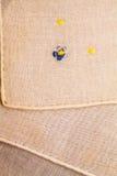 Struttura d'annata del tessuto con ricamo fine Immagini Stock Libere da Diritti