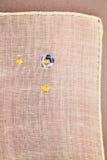 Struttura d'annata del tessuto con ricamo fine Fotografia Stock Libera da Diritti
