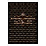 Struttura d'annata di Art Deco Monochrome Flourishes Cartolina d'auguri ornamentale Copertura del fondo Frontespizio Stile dei pa Immagine Stock