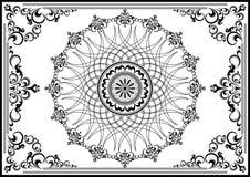 Struttura d'annata di lusso con l'ornamento nero Immagine Stock Libera da Diritti