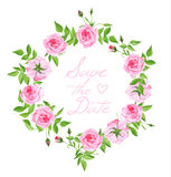 Struttura d'annata di progettazione di vettore delle rose rosa Fotografia Stock