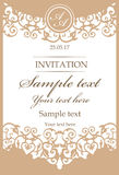Struttura d'annata ornamentale per gli inviti di nozze royalty illustrazione gratis