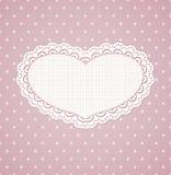 Struttura d'annata rosa dei cuori. Royalty Illustrazione gratis