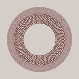 Struttura d'annata rotonda per il logos Macramè originale di tessitura Immagine Stock Libera da Diritti