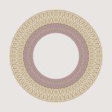 Struttura d'annata rotonda per il logos Macramè originale di tessitura Immagini Stock Libere da Diritti