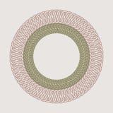 Struttura d'annata rotonda per il logos Macramè originale di tessitura Fotografia Stock Libera da Diritti