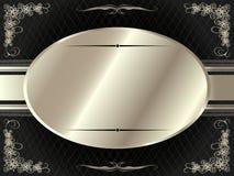Struttura d'argento con gli elementi floreali 7 illustrazione vettoriale