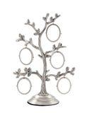 Struttura d'argento della foto dell'albero genealogico Immagini Stock Libere da Diritti