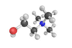 struttura 3d del cloruro della colina, un composto organico Fotografie Stock