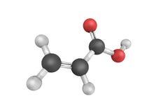 struttura 3d di acido acrilico, un composto organico È un colore illustrazione di stock