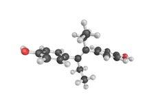struttura 3d di dietilstilbestrolo, un sintetico, non steroideo illustrazione di stock