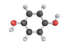 struttura 3d di idrochinone, anche conosciuta come il quinol, un composto aromatico Immagine Stock Libera da Diritti